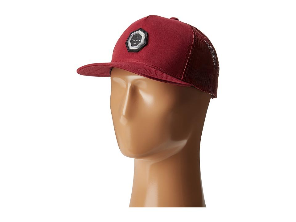 VISSLA - Cyclones Trucker Hat (Brick) Caps
