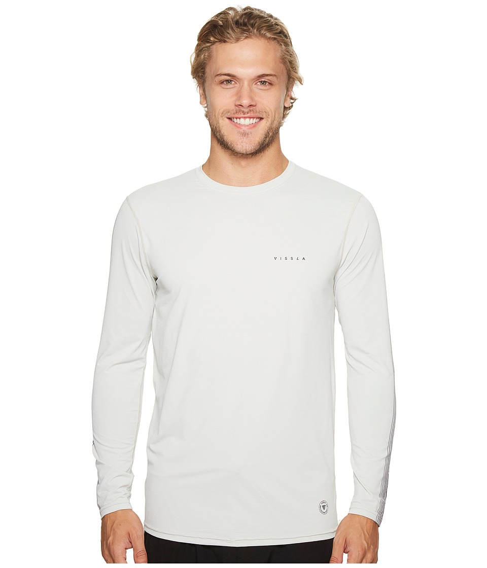 VISSLA - Dredgers Long Sleeve Surf Tee (Vintage White Heather) Men's T Shirt