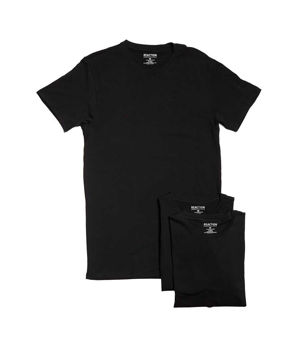Kenneth Cole Reaction - 3-Pack Cotton Stretch Crew (Black Combo) Men's Pajama
