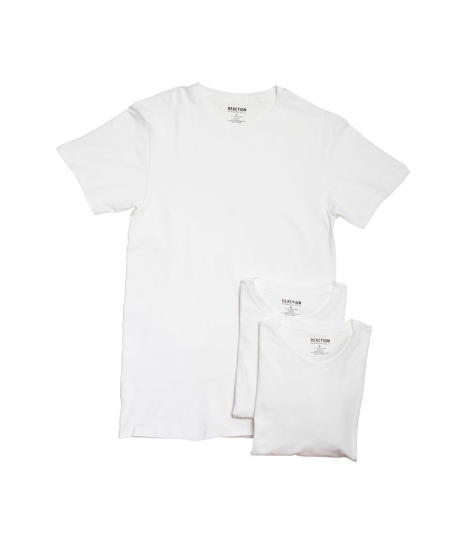 Kenneth Cole Reaction - 3-Pack Cotton Stretch Crew (White Combo) Men's Pajama