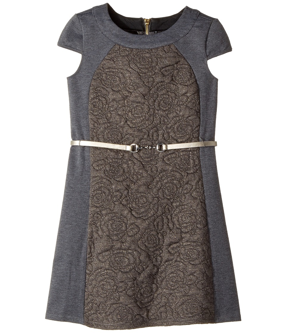 Us Angels Cap Sleeve Sheath Dress (Big Kids) (Grey) Girl