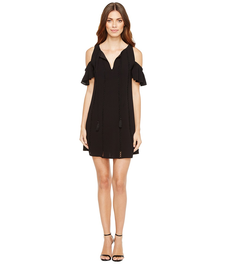 Jessica Simpson - Cold Shoulder Dress w/ Ties (Black) Women's Dress