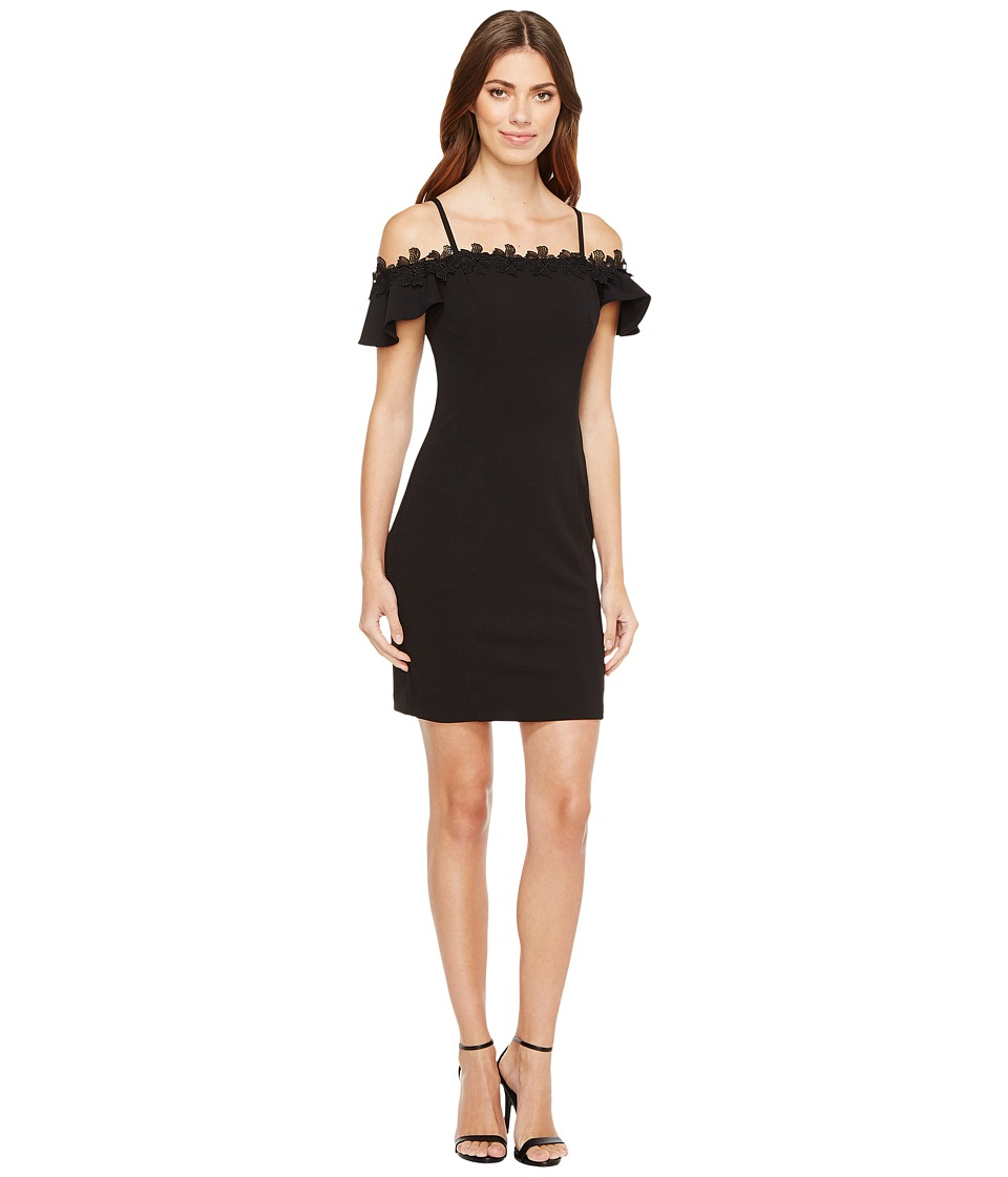 Jessica Simpson - Off the Shoulder Dress (Black) Women's Dress