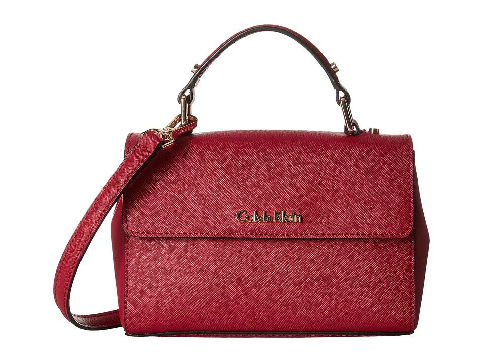 Calvin Klein - Gifting Saffiano Mini Flap Crossbody (Red) Cross Body Handbags