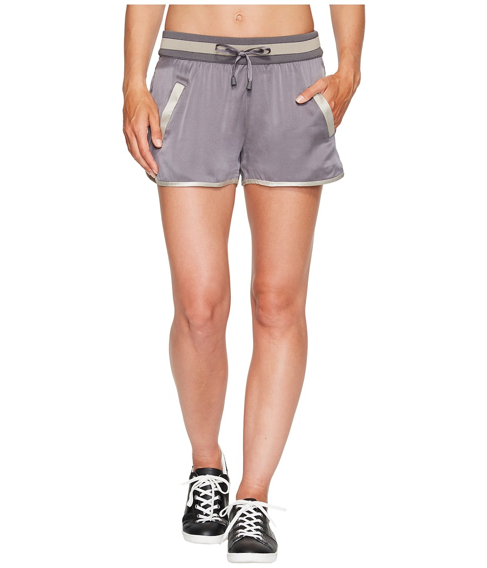 Blanc Noir - Venice Shorts (Charcoal/Grey) Women's Workout