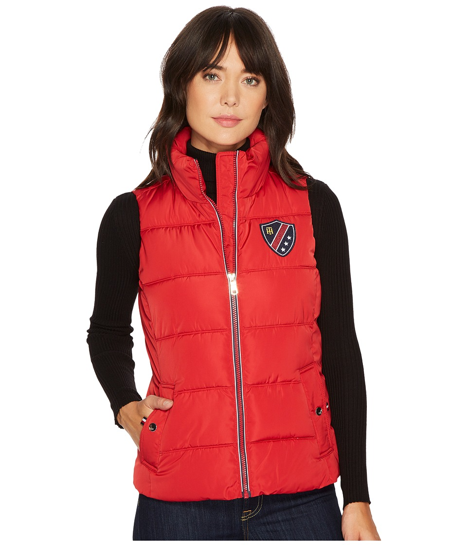 Tommy Hilfiger - 24 Puffer Vest with Pocket (Salsa) Women's Vest