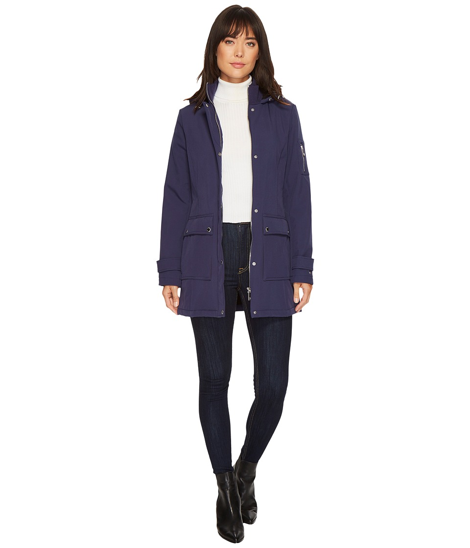 Tommy Hilfiger - 32 Hooded Softshell (Blue) Women's Coat