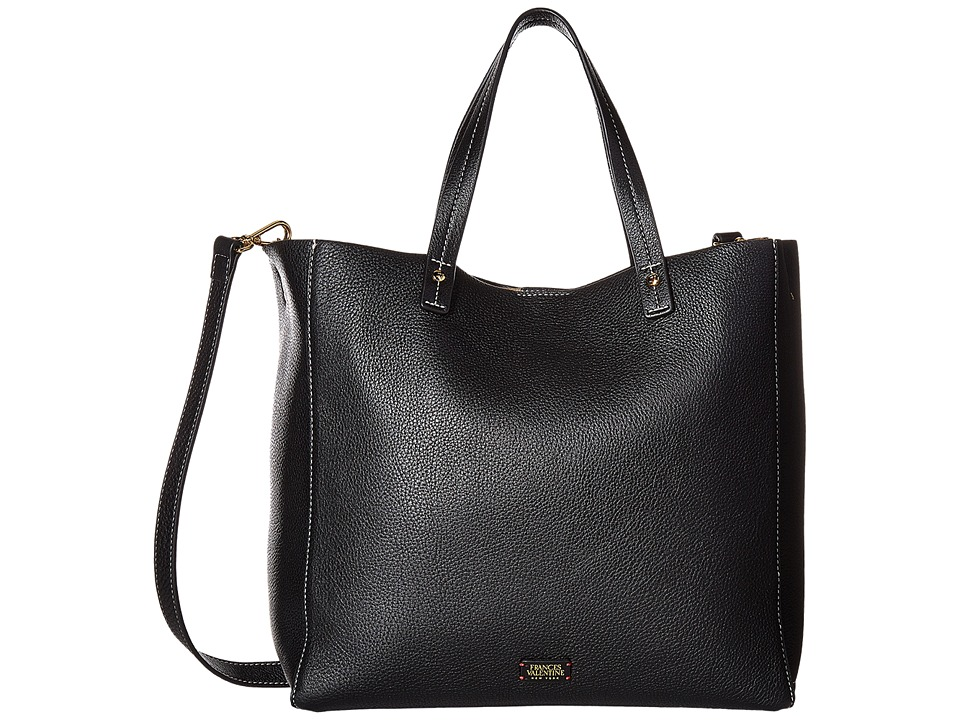 Frances Valentine - Large Margaret Tote (Black) Tote Handbags