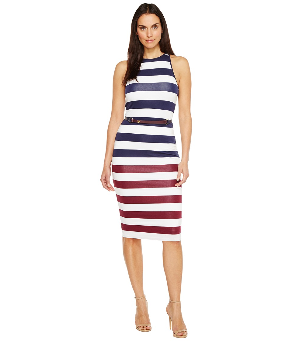 Ted Baker - Yuni Rowing Stripe Bodycon Dress (Navy) Women's Dress