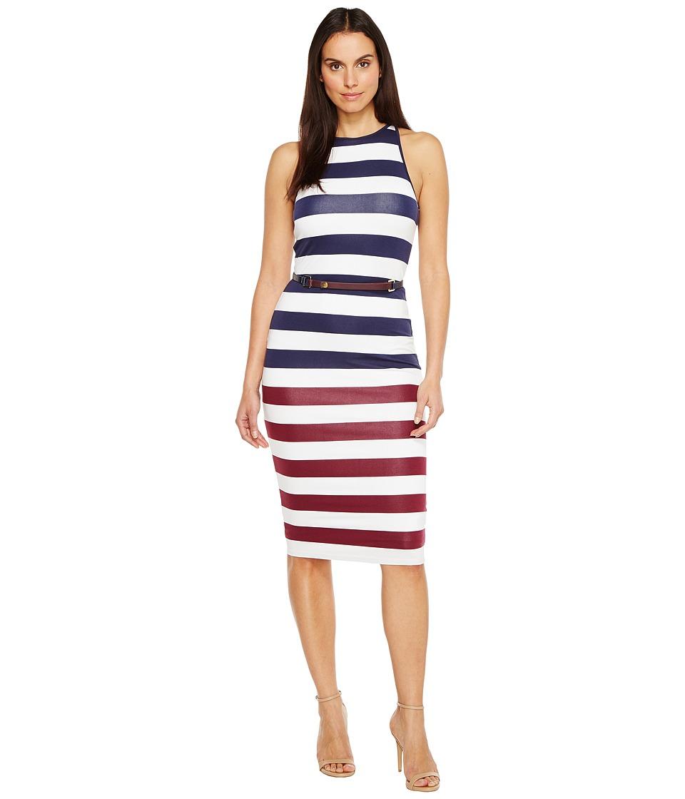 Ted Baker - Yuni Rowing Stripe Bodycon Dress (Navy) Women's Dress