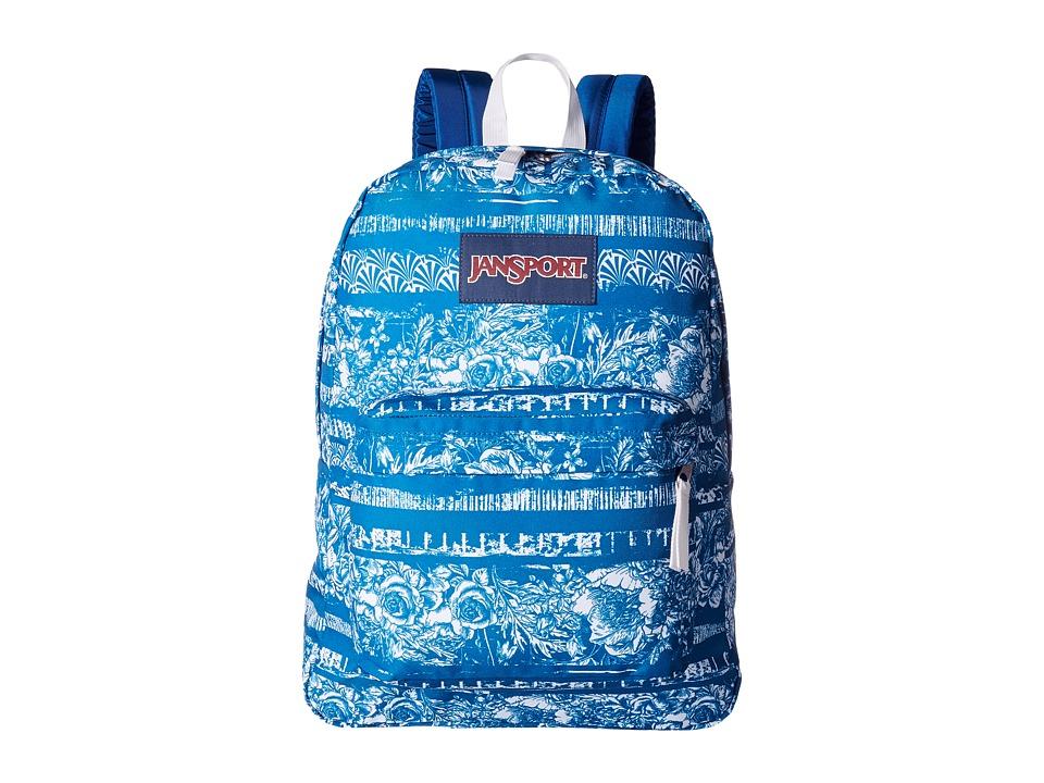 JanSport - SuperBreak(r) (Midnight Sky Floral Stripe) Backpack Bags