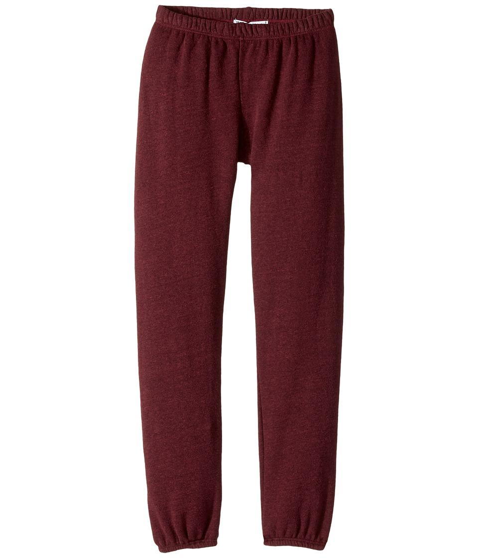 Spiritual Gangster Kids - SG Varsity Fave Sweatpants (Big Kids) (Burgundy) Girl's Casual Pants