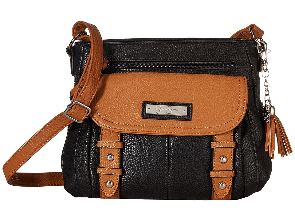 Jessica Simpson - Miriam Crossbody (Black/Cognac) Cross Body Handbags