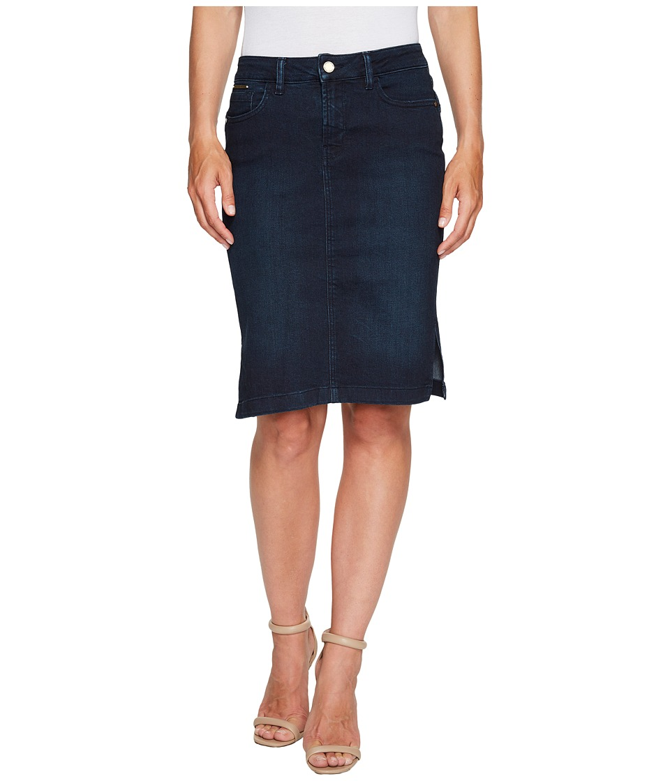 Ivanka Trump - Denim Pencil Skirt (Dark Blue) Women's Skirt