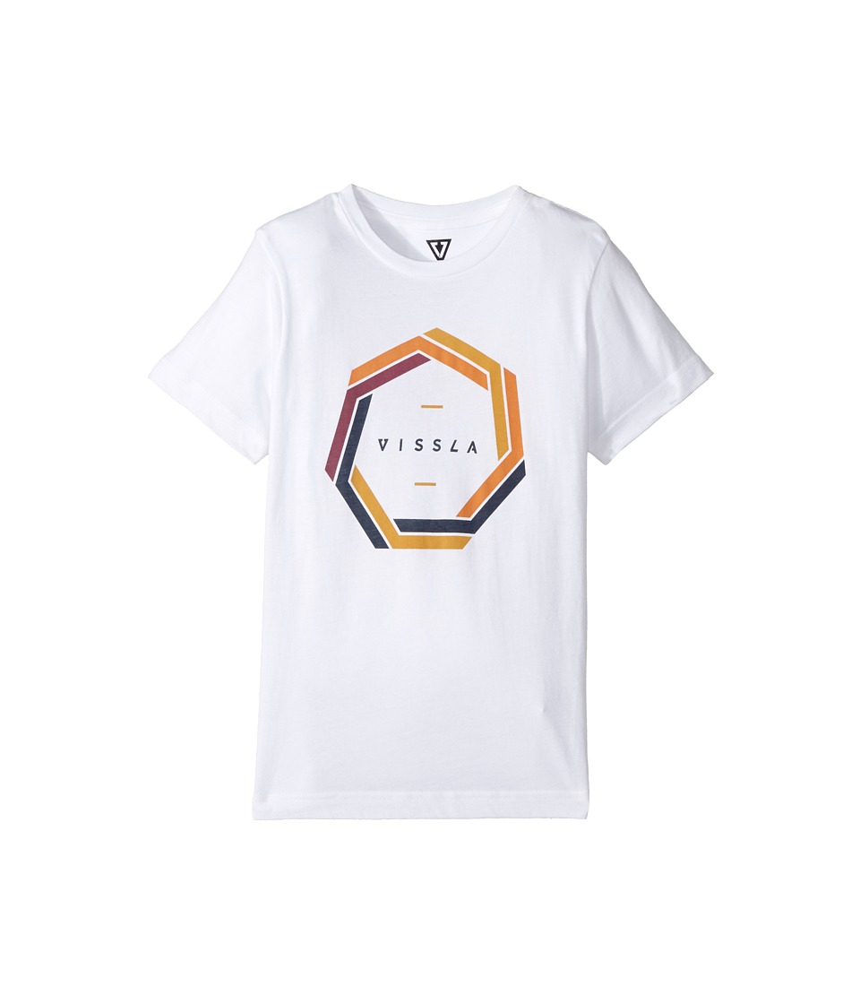 VISSLA Kids - Cyclone T-Shirt (Big Kids) (White) Boy's T Shirt