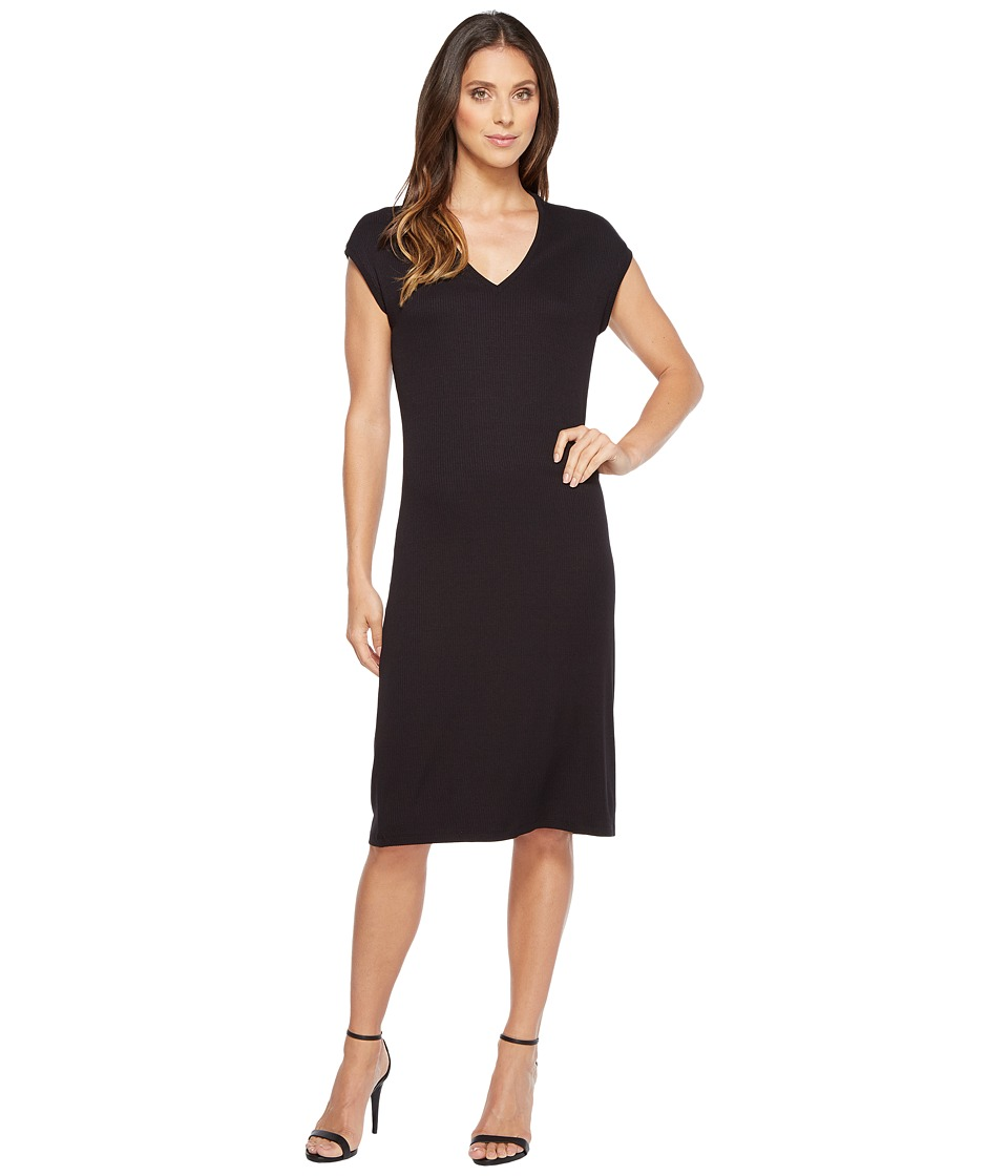 Ivanka Trump - Short Sleeve Knit Dress (Black) Women's Dress