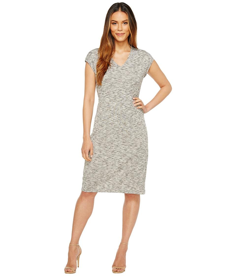 Ivanka Trump - Short Sleeve Knit Dress (Heather Grey) Women's Dress
