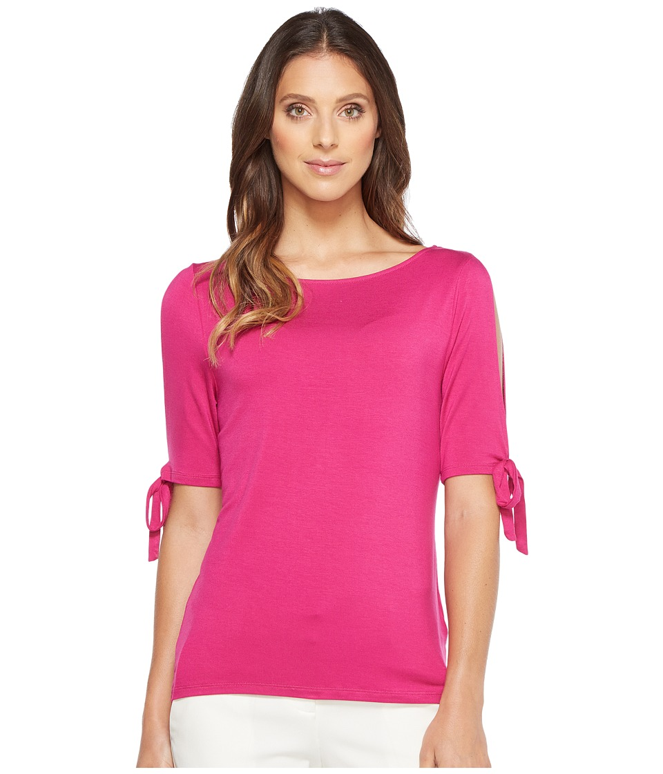 Ivanka Trump - Cold Shoulder Blouse (Sangria) Women's Blouse