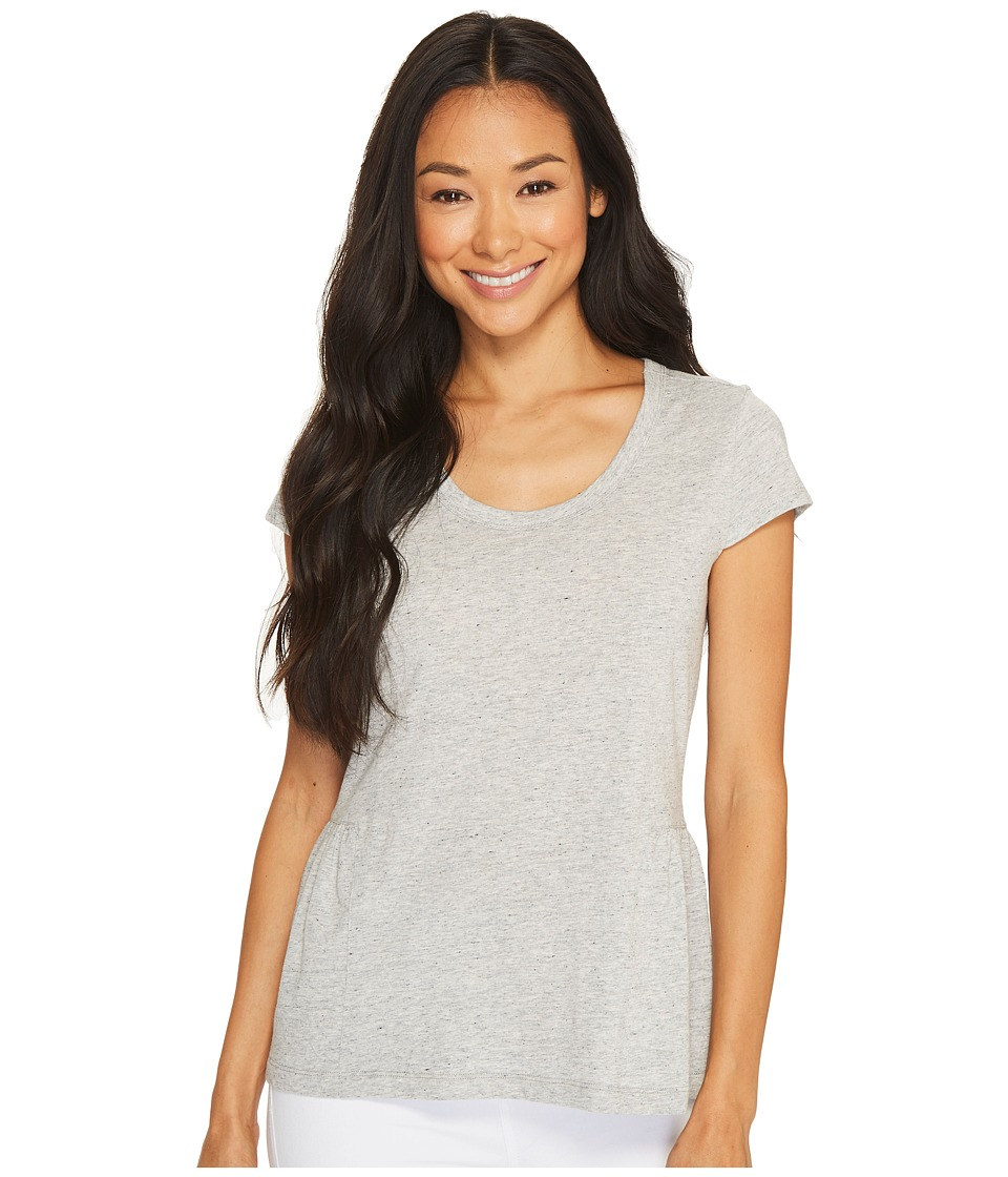 Ivanka Trump - Peplum Cap Sleeve Blouse (Heather Grey) Women's Blouse