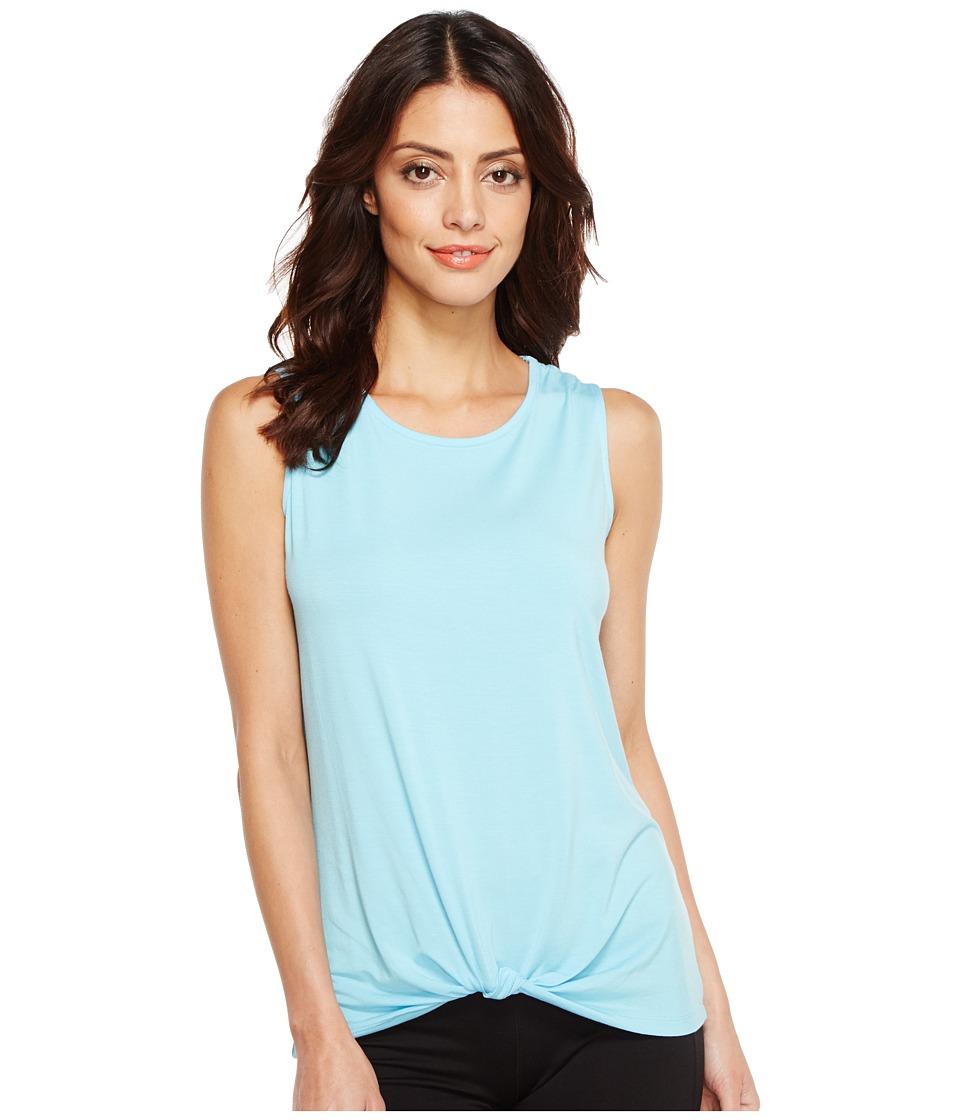 Ivanka Trump - Knot Front Tee (Topaz Blue) Women's T Shirt