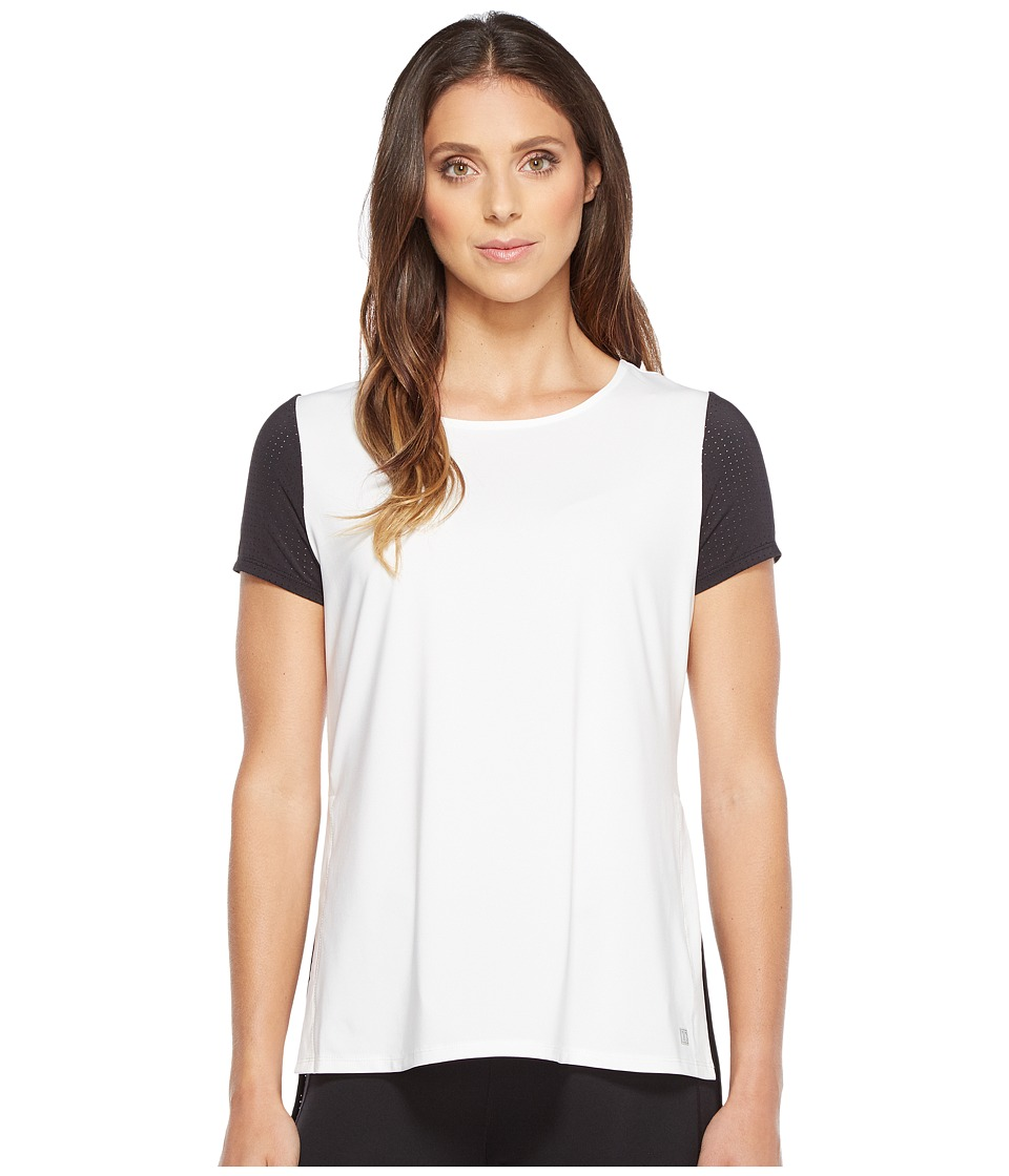 Ivanka Trump - High-Low Color Contrast Tee (Bright White/Black) Women's T Shirt
