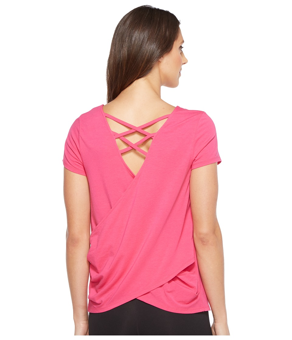 Ivanka Trump Cotton/Modal Cross-Back Tee (Beetroot) Women