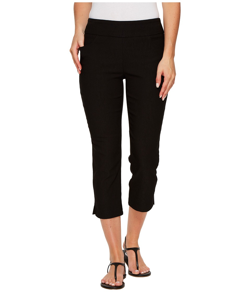 Tribal Stretch Bengaline 22 Flatten It Pull-On Capris (Black) Women