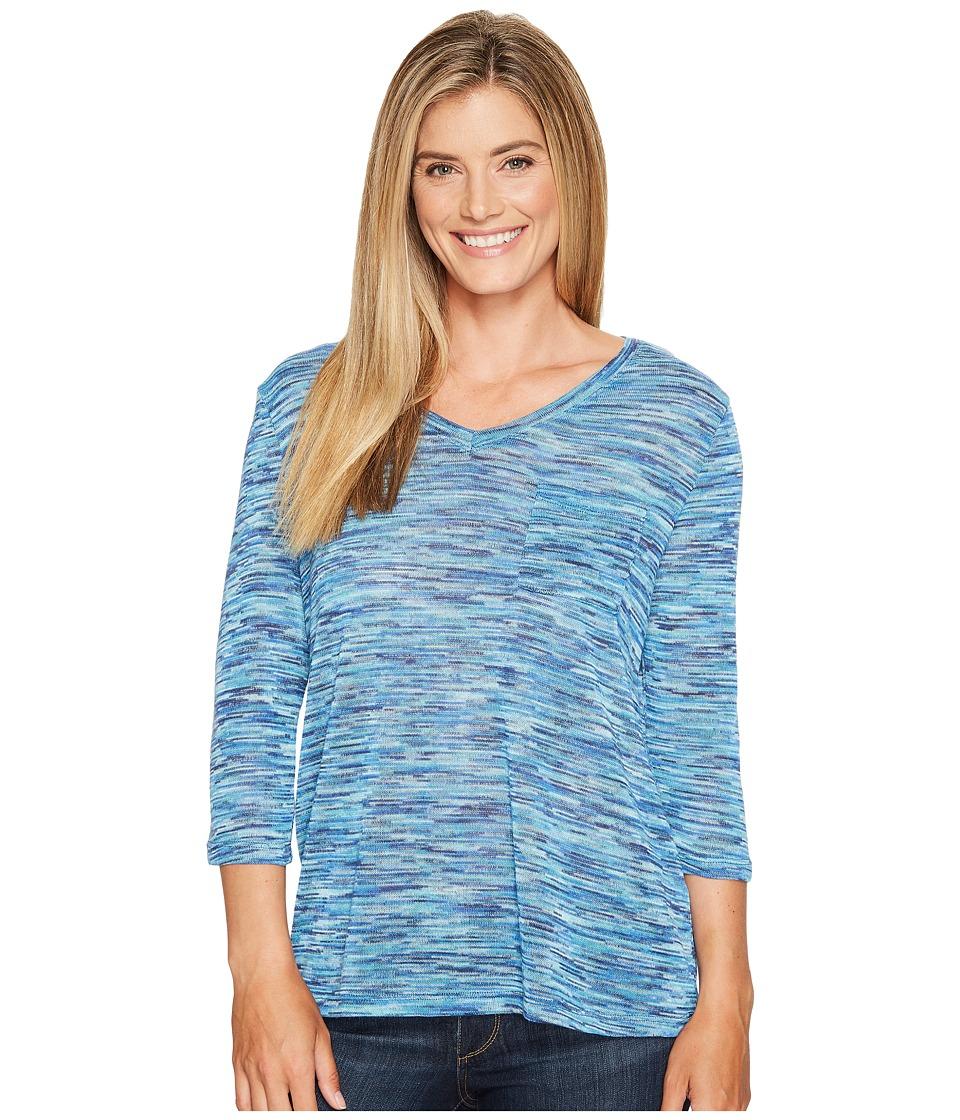 Tribal - 3/4 Sleeve V-Neck T-Shirt (Light Aqua) Women's T Shirt