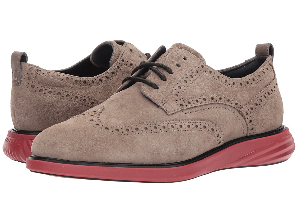 Cole Haan Grand Evolution Shortwing (Toadrock Suede/Sun Dried Tomato) Men