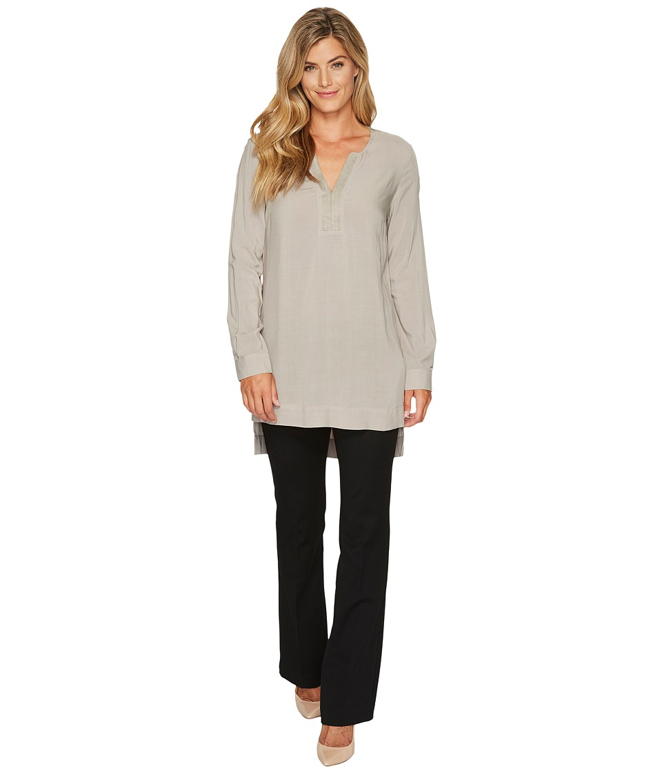 Tribal Long Sleeve Blouse w/ Suede Details (Thyme) Women