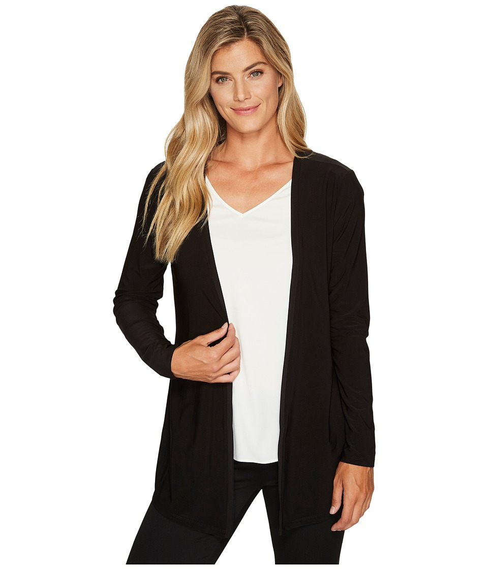 Tribal Travel Pack and Go Back Detail Cardigan (Black) Women
