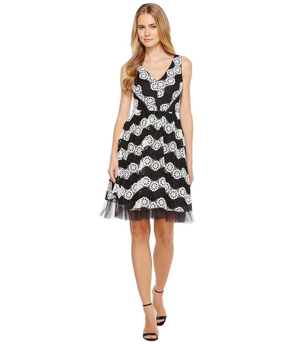 Eva by Eva Franco - Valentina Dress (Black/White) Women's Dress