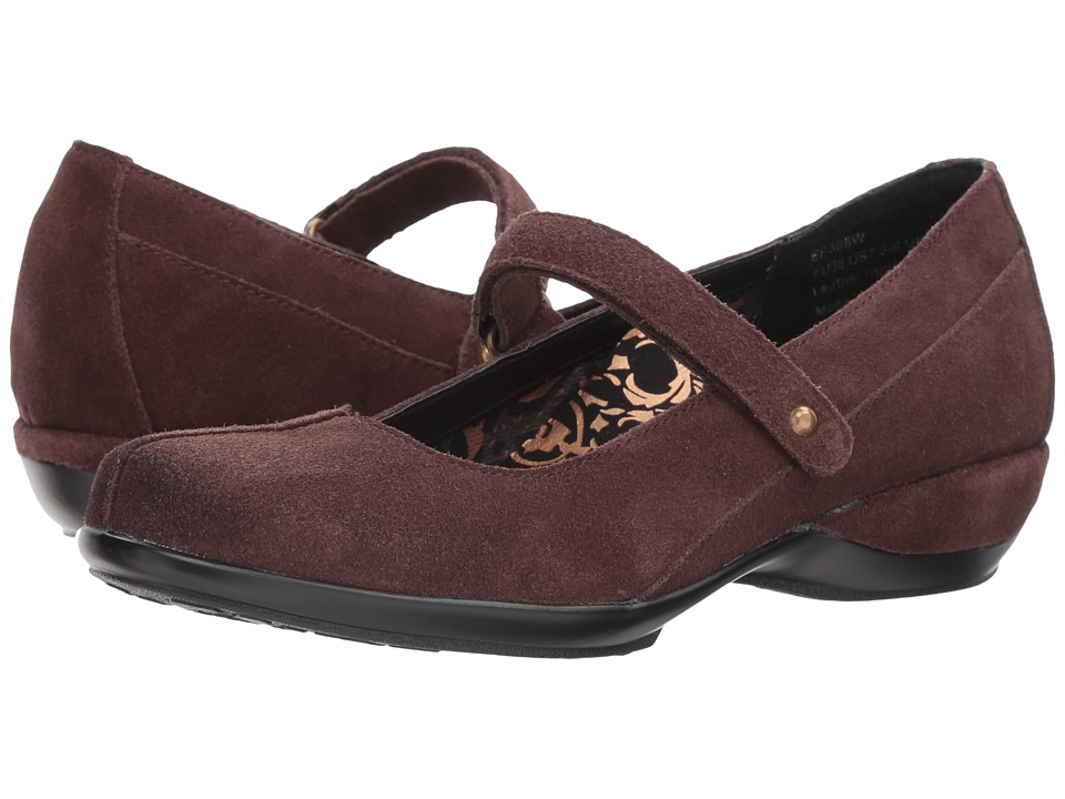 Image of Aetrex - Alex (Burgundy Suede) Women's Maryjane Shoes