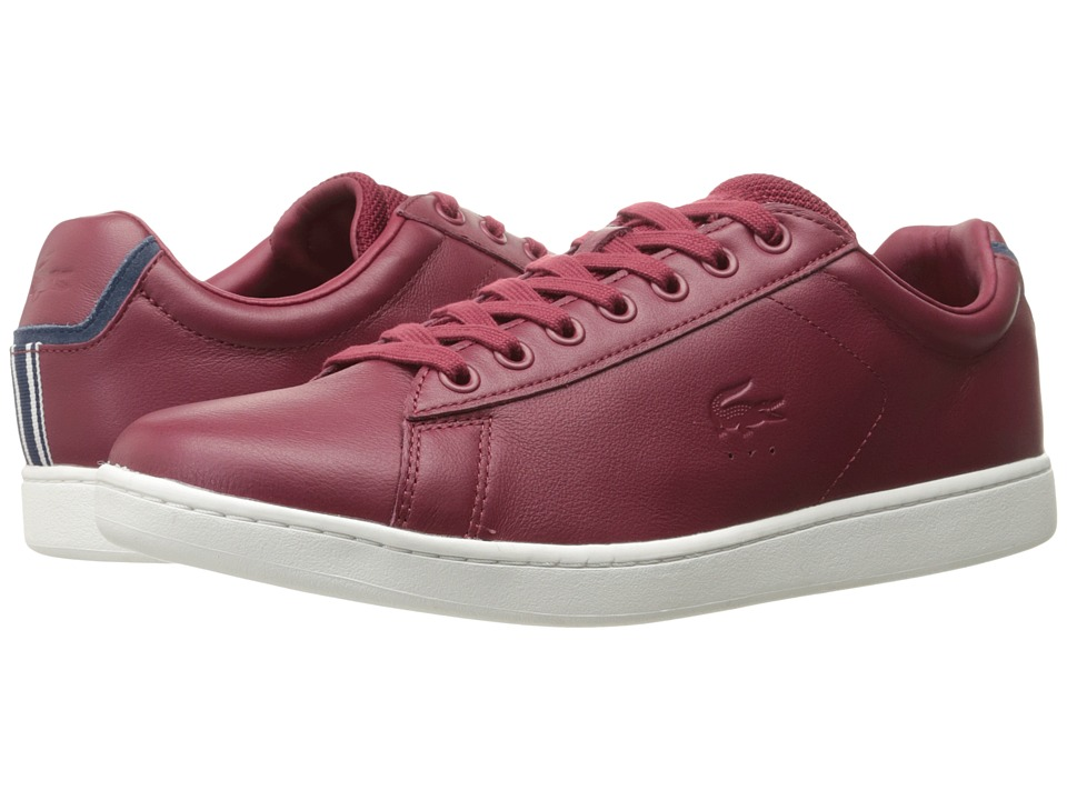 Lacoste - Carnaby EVO 117 1 (Dark Red) Men's Shoes