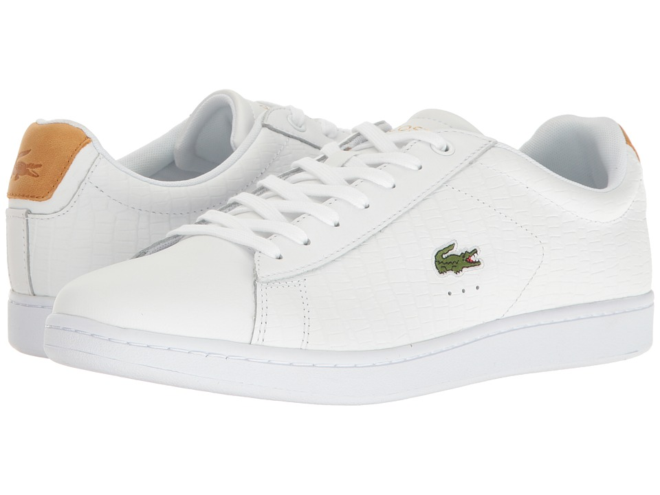 Lacoste - Carnaby EVO G117 1 (White/Tan) Men's Shoes