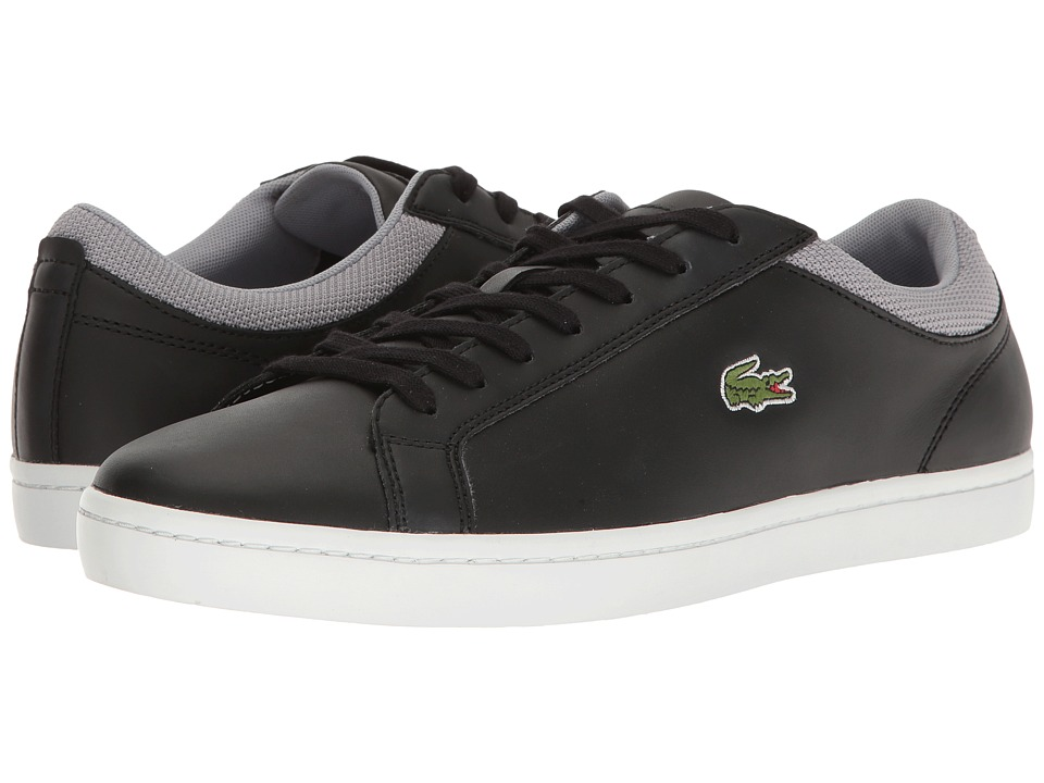 Lacoste - Straightset Sp 117 2 (Black/Grey) Men's Shoes