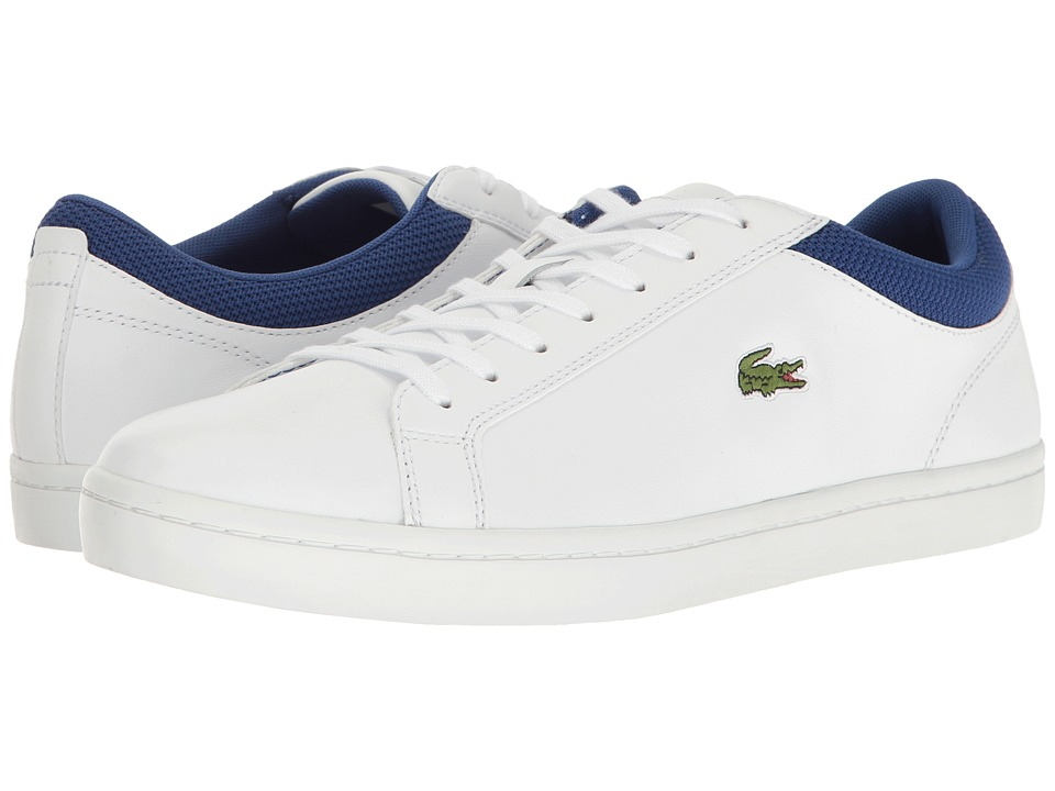 Lacoste - Straightset Sp 117 2 (White/Dark Blue) Men's Shoes