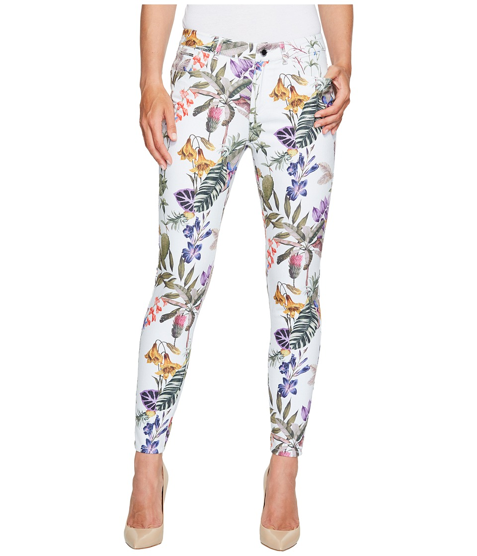 Ivanka Trump - Tropical Print Denim Pants in Off-White Multi (Off-White Multi) Women's Casual Pants
