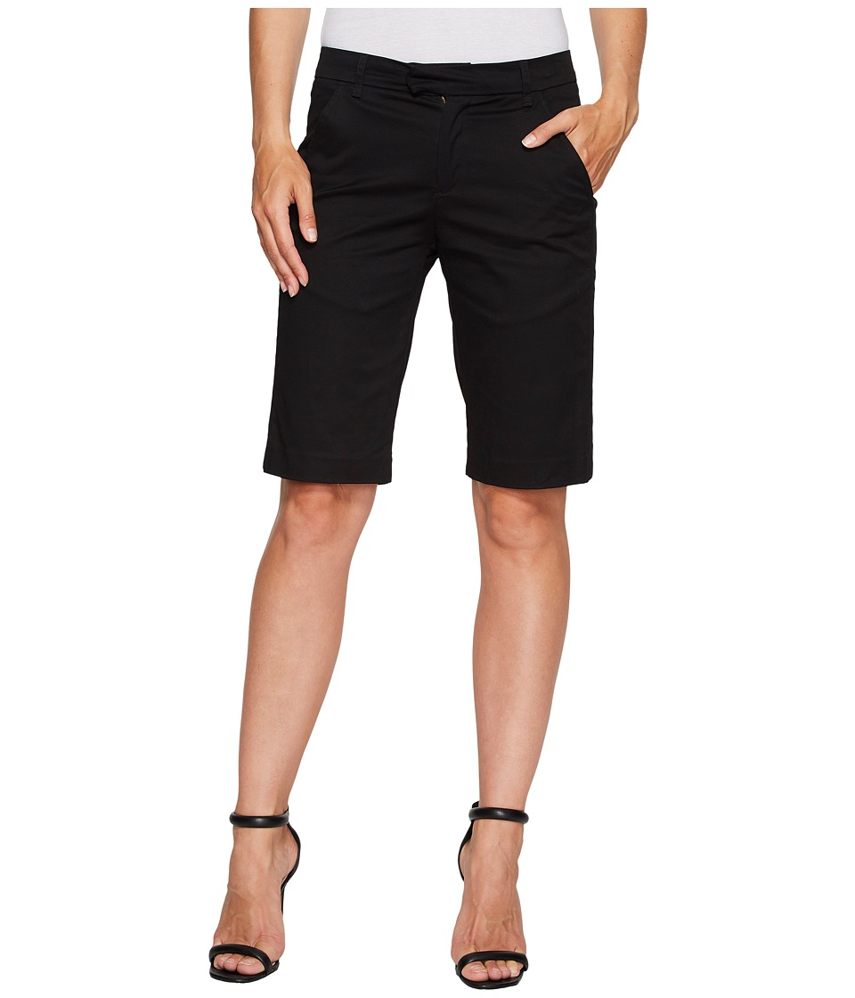 Ivanka Trump - Stretch Cotton Bermuda Shorts in Black (Black) Women's Shorts
