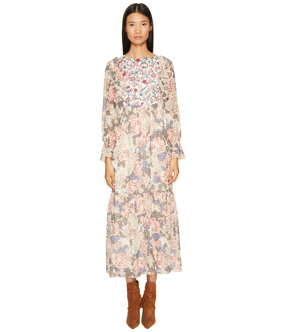 See by Chloe - Georgia's Garden Silk Dress (Natural White) Women's Dress