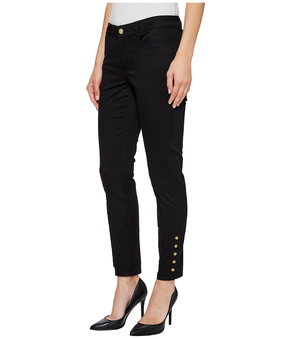 Ivanka Trump - Denim Pants with Buttons at Ankle in Black (Black) Women's Jeans