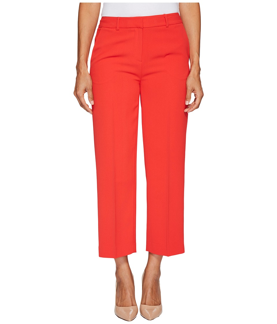 Vince Camuto Specialty Size - Petite Texture Base Straight Leg Crop Pants (Bright Crimson) Women's Casual Pants