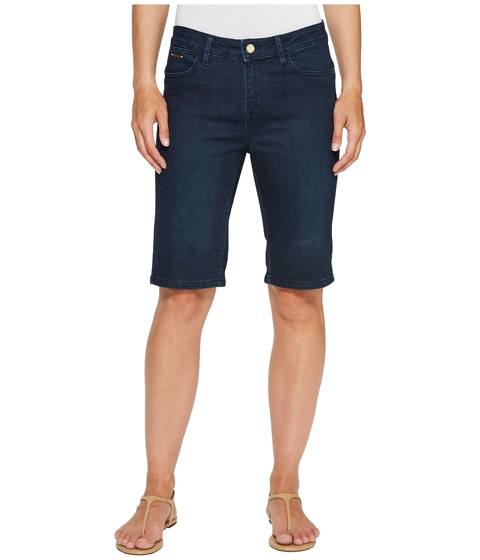 Ivanka Trump - Denim Bermuda Shorts in Dark Blue (Dark Blue) Women's Shorts