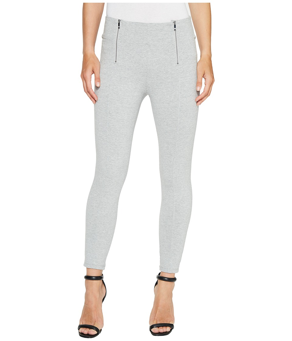 Ivanka Trump - Ponte Zipper Pants in Heather Grey (Heather Grey) Women's Dress Pants