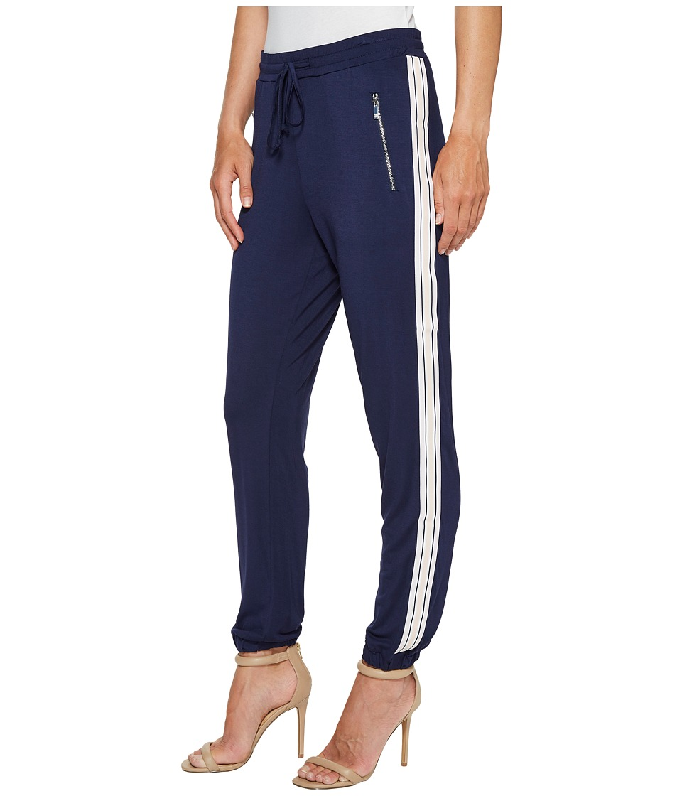 Ivanka Trump - Side Stripe Pants (Evening Blue/Light Lilac) Women's Dress Pants
