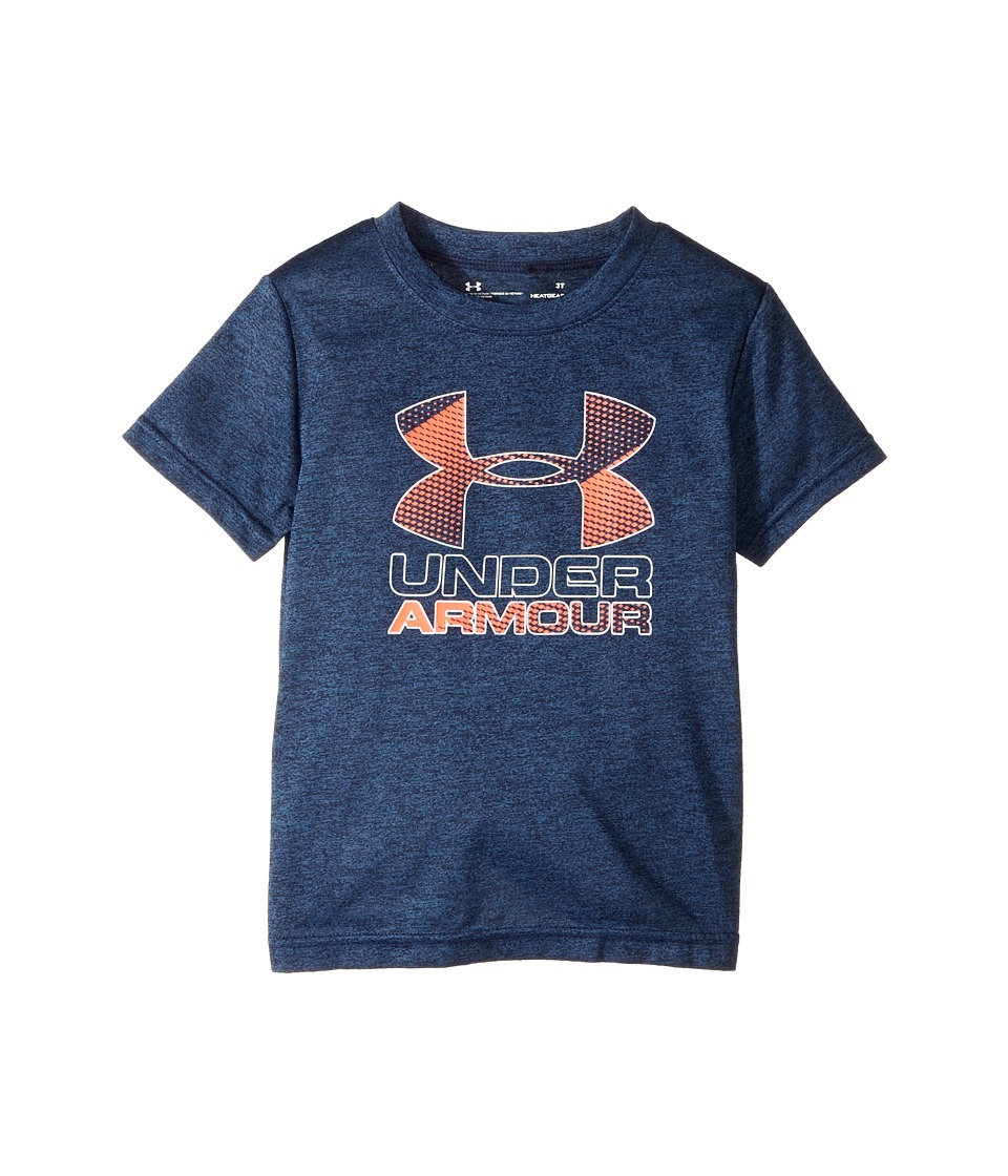 Under Armour Kids - Big Logo Hybrid Tee (Toddler) (Midnight Navy) Boy's T Shirt