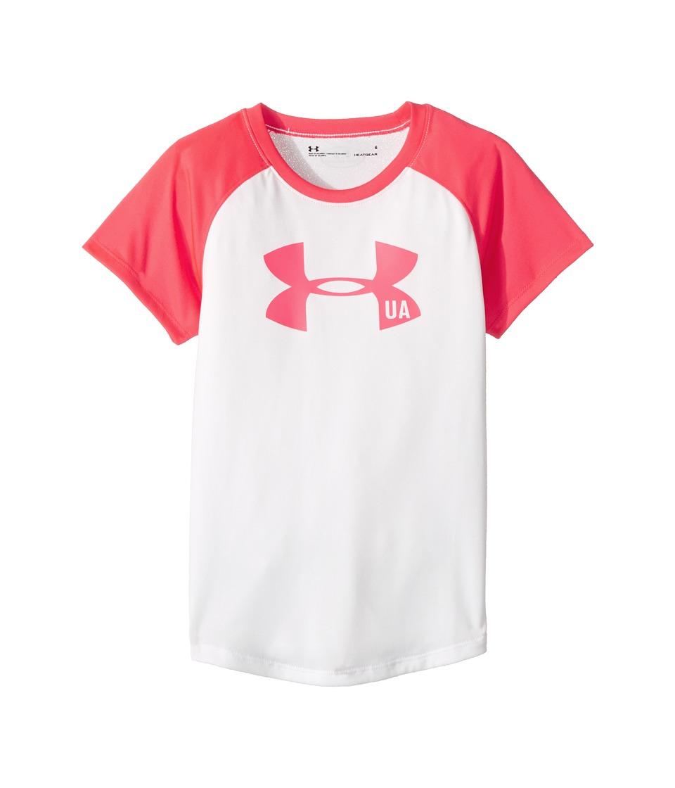 Under Armour Kids - Big Logo Raglan Tee (Little Kids) (White) Girl's T Shirt