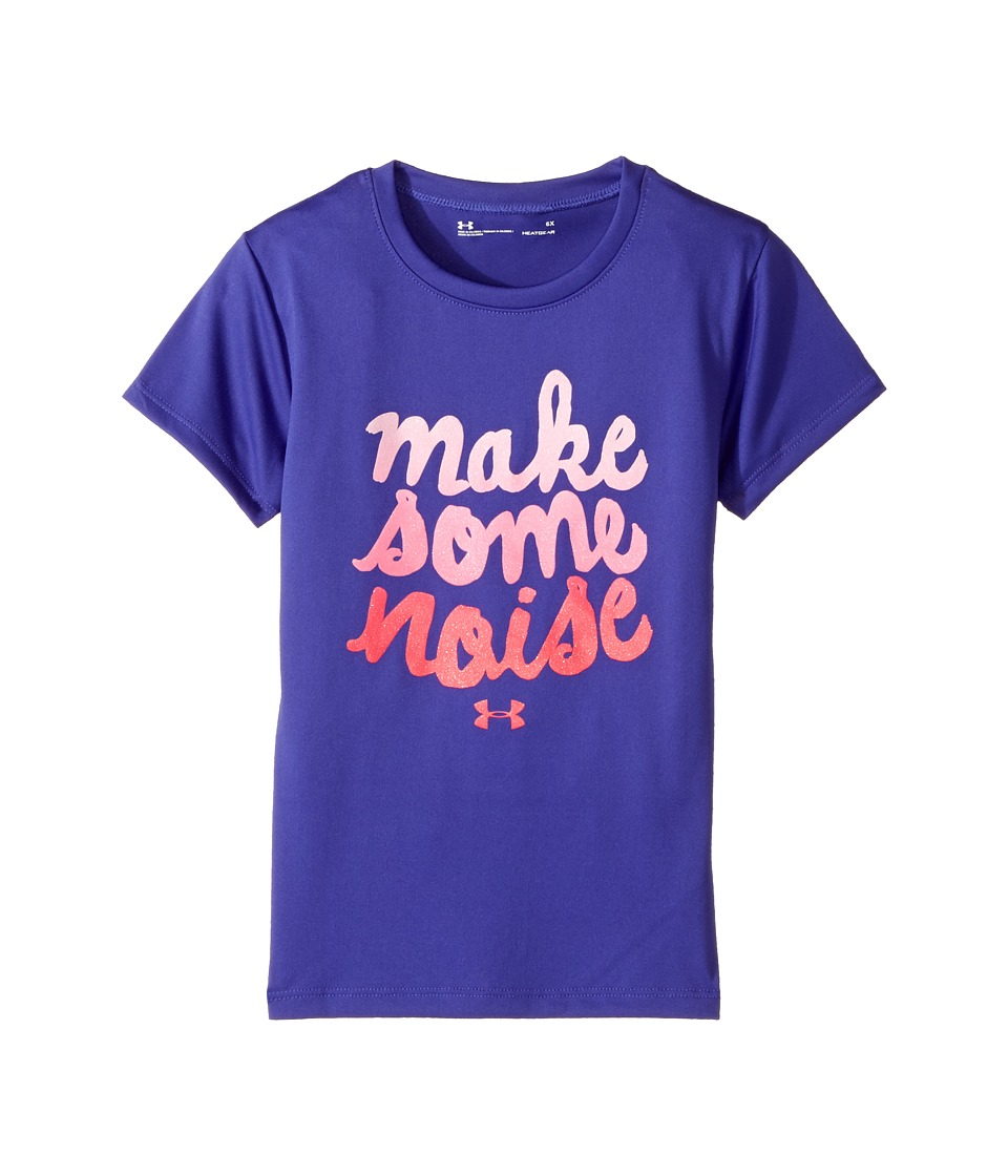 Under Armour Kids - Make Some Noise Tee (Little Kids) (Constellation Purple) Girl's T Shirt