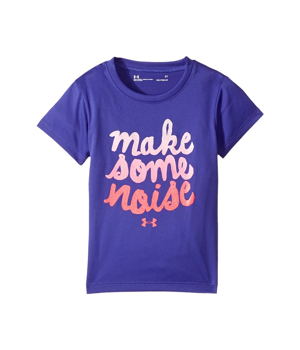 Under Armour Kids - Make Some Noise Tee (Toddler) (Constellation Purple) Girl's T Shirt