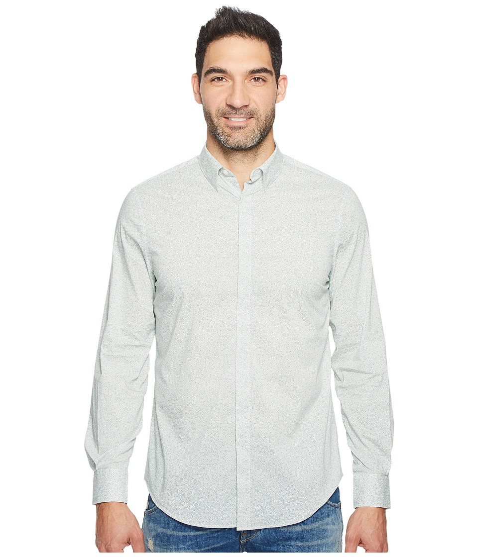 Perry Ellis - Travel Luxe All Over Geometric Shirt (Bright White) Men's Clothing